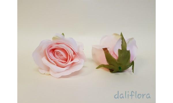 Dirbtiniai rožių žiedai. Spalva ružava