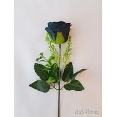 Dirbtinių rožių žiedai. Spalva tamsiai mėlyna