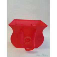 Dekoratyvinė gėlių dėžutė. Spalva raudona