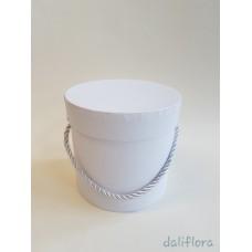 Dekoratyvinė gėlių dėžutė (maža). Spalva balta