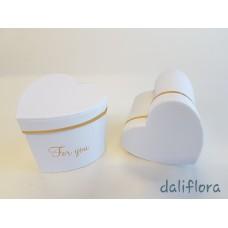Dekoratyvinė gėlių dėžutė. Spalva balta