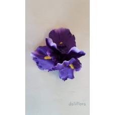 Dirbtinių irisų žiedai. Spalva violetinė