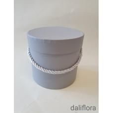 Dekoratyvinė gėlių dėžutė (maža). Spalva pilka