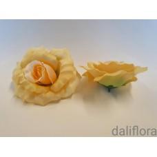 Dirbtinių rožių žiedai. Spalva gelsva