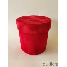 Dekoratyvinė veliūrinė gėlių dėžutė (maža). Spalva raudona