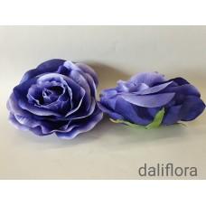 Didelis rožės žiedas. Spalva tamsiai violetinė