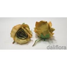 Dirbtinių rožių žiedai. Spalva žalsva-samaninė