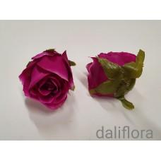 Dirbtinių rožių žiedai. Spalva bordo