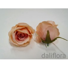 """Dirbtiniai rožių žiedai. Spalva pastelinė """"sendinta"""""""