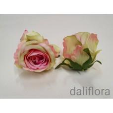 Dirbtiniai rožių žiedai. Spalva švelniai ružava