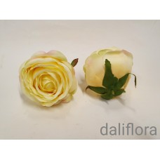 Dirbtiniai rožių žiedai. Spalva geltona
