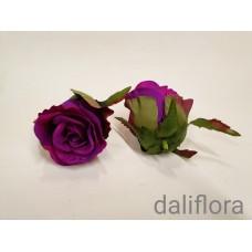 Dirbtinių rožių žiedai. Spalva ryšniai violetinė