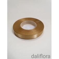 Atlasinė juostelė. Spalva ruda-auksinė