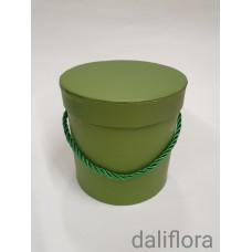 Dekoratyvinė gėlių dėžutė (maža). Spalva žalia