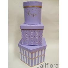 Gėlių dėžučių komplektas. Spalva violetinė