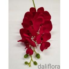 Dirbtinė orchidėja. Spalva raudona, bordo