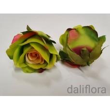 Dirbtiniai rožių žiedai. Spalva žalia