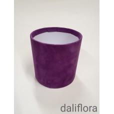 Veliūrinė gėlių dėžutė (maža). Spalva violetinė