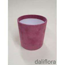 Veliūrinė gėlių dėžutė (maža). Spalva rausvai violetinė