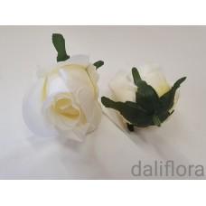 Rožių žiedai. Spalva balta
