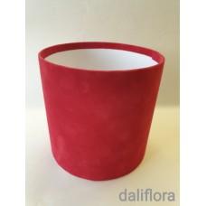 Veliūrinė dėžutė 15x15cm. Spalva raudona
